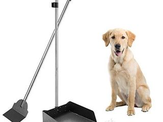Pet Poop Tray   Spade Set Dog Cat Waste Removal Scoop with 37 4  long Detachable Handle