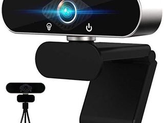Webcam with Microphone   Full 1080P HD PC Webcam Streaming Webcam for MAC  laptop  Plug and Play Web Camera for YouTube Video Calling  Studying  Conference  Gaming with Rotatable Clip