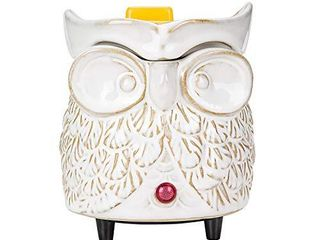 SUNPIN Ceramic Candle Warmer Electric 2 in 1 Owl Wax Warmer for Warming Scented Candles Decor for Home Office Aromatherapy  Owl