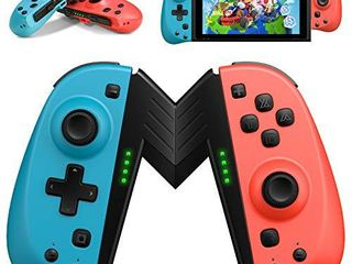 AlIENGT Joypad Replacement for Nintendo Switch JoyCon Controller  Wireless Joy Pad Joystick Remote Controllers with Programmable Macros  Support Turbo 6 Axis Gyro Dual Vibration for Nintendo Switch