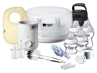 Tommee Tippee All In One Complete Newborn Baby Bottle Feeding Gift Set  White