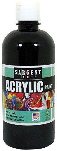 Sargent Art 24 2485 16 Ounce Acrylic Paint  Black