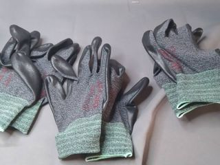 DEX FIT Nitrile Work Gloves FN330  3D Comfort Stretch Fit  Power Grip  Smart Touch  Durable Foam Coated  Thin   lightweight  Machine Washable  Black Gray Medium 3 Pairs
