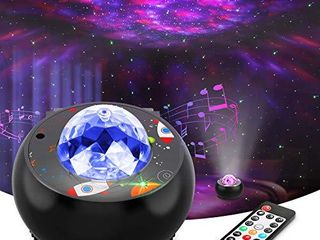 Riarmo Galaxy Star Projector   2021 Upgraded  Night light Projector with Music Speaker   Remote Control for Bedroom Party Home Decor  Starry Projector with Voice Control and Timer for Adults