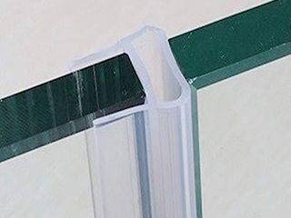 Door Seal Shower Door Seal Strip  Glass Shower Door Sweep  8 2 Feet Frameless Shower Door Sweep to Stop Shower leaks U Type Fit for 10mm  3 8  Glass Door