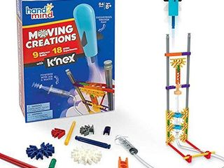 hand2mind Moving Creations with K NEX  Book and Building Kit for Kids Ages 8 12  9 Models   18 Science Experiments  Explore The Science of Air and Water  Homeschool Science Kits