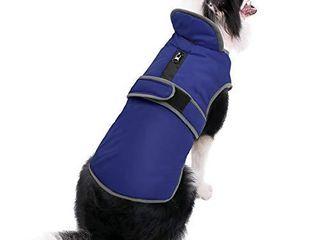 MIGOHI Reflective Waterproof Windproof Dog Coat Cold Weather Warm Dog Jacket Reversible Stormguard Winter Dog Vest for Dogs Navy S