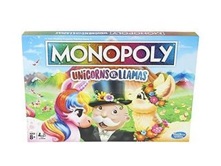 Monopoly Unicorns Vs  llamas Board Game For Ages 8   Up