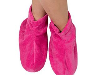 Bed Buddy Foot Warmers with Aromatherapy   Heated Slippers and Feet Warmers for Women   Microwavable Slippers for Women  lavender and Rose Scented