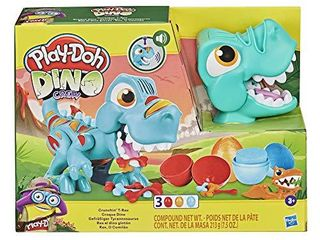 Play Doh Dino Crew Crunchin  T Rex Toy for Kids 3 Years and Up with Funny Dinosaur Sounds and 3 Eggs  2 5 Ounces Each  Non Toxic