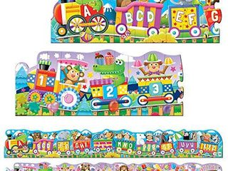The learning Journey  Puzzle Doubles   Giant ABC   123 Train Floor Puzzles   large Floor Puzzles For Kids Ages 3 5   Award Winning Toys