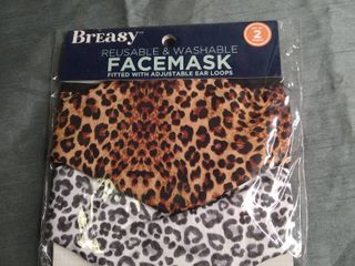 REUSABlE Printed Face Mask Set Of 2