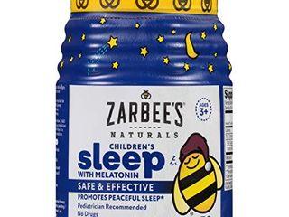 Zarbee s Naturals Children s Sleep with Melatonin Supplement  Natural Berry Flavored  50 Gummies