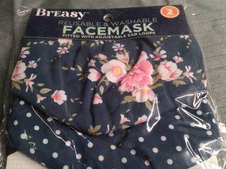 REUSABlE Facemasks Printed Set Of 2