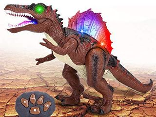 Remote Control Dinosaur  Big Action Figure Jurassic World Spinosaurus Toy  Walking Robot Dinosaur RC Toys with lED light Up   Roaring Realistic Simulation Sounds for 3  Year Old Boys Girls Kids Gifts