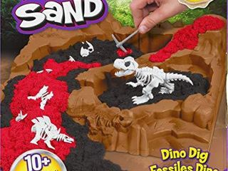 Kinetic Sand  Dino Dig Playset with 10 Hidden Dinosaur Bones to Discover  for Kids Aged 6 and up