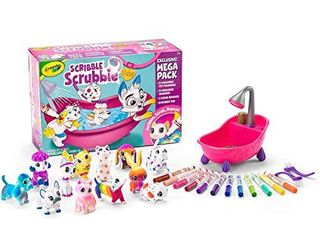 Crayola Scribble Scrubbie Pets Mega Pack  Animal Toy for Kids  Gift  Age 3