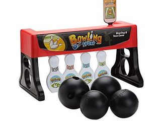Bowling and Tossing Game for Kids   2 in 1 Bowling Throwing Game Skittles Tossing Family Fun   Fun Indoor Carnival Game   Includes Base  Balls and Stickers   Toss and Bowling Game for Toddlers  Boys