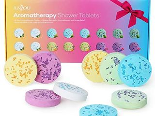 Shower Bomb Tablets Aromatherapy Bath Bombs with Pure Essential Oils 16 Piece Shower Fizzers Streamers Melts Vapor for Home Spa Gift Set