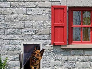Ideal Pet Products Designer Series Ruff Weather Pet Door Wall Installation Kit  Super large  15  x 23 5  Flap Size  Grey  DSRWSlWK