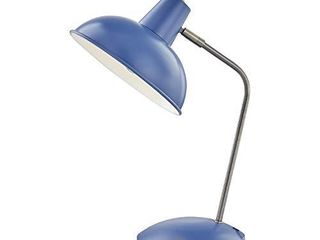 light Society lS T261 Bl Hylight Blue Retro Desk lamp with Antique Brass Details  Mid Century Modern Vintage Style