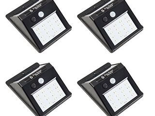 Sunjoy 4 Piece 4 9 l x 1 9 H x 3 7  W Pack Solar lED Sensor Wall light