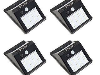 Sunjoy 4 Piece 4 9 l x 1 9 H x 3 7  W Pack Solar lED Sensor Wall light   Set of 3