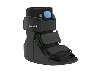 United Ortho Short Air Cam Walker Fracture Boot  Small  Black