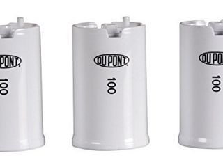 DuPont WFFMC103X High Protection 100 Gallon Faucet Mount Water Filtration Cartridge  3 Pack White