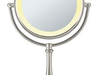Conair Reflections 3 Way Touch Control lighted Makeup Mirror  1x 8x magnification  Satin Nickel