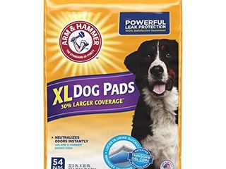 Arm   Hammer for Pets 54 Count Puppy Training Pads with Baking Soda  X large 30 x 22 5