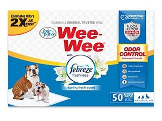Wee Wee Puppy Training Pee Pads 50 Count 22  x 23  Standard Size Pads with Febreze
