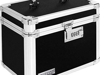 Vaultz Combination lock Box  7 75 x 7 25 x 10 Inches  Black  VZ00102 2