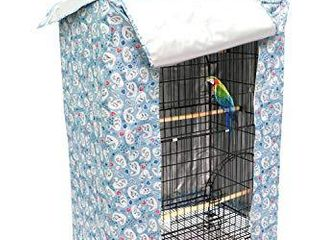 large Bird Cage Cover Good Night Parakeet Cage Cover Washable Parrot Cage Shield  Blue Medium Size
