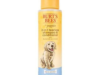 Burt s Bees Dog Shampoo for Puppies  2 in 1 Shampoo and Conditioner  Buttermilk and linseed Oil  16 Oz