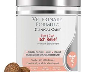 Veterinary Formula Clinical Care  Skin and Coat Itch Relief Premium Dog Supplement  90 Soft Chews