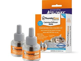 ThunderEase Cat Calming Pheromone Diffuser Refill   Powered by FElIWAY   Reduce Scratching  Urine Spraying  Marking  and Anxiety  60 Day Supply