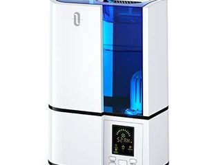 TaoTronics Humidifiers  4l Cool Mist Ultrasonic Humidifier for Bedroom Home large Room Baby Room  Quiet Operation  lED Display with Humidistat  Waterless Auto Shut off  1 06 Gallon  US 110V