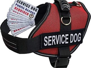 Activedogs Service Dog Air Tech large Red Mesh Vest Harness   Free ADA Cards   Free Reflective Service Dog Patches  Girth 25 35