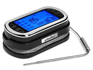 Grillaholics Meat Thermometer for Grilling   Remote Wireless Digital Meat Cooking Thermometer for Smoking  BBQ  Oven   Smokers   200 Foot Range