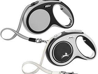 FlEXI New Comfort Retractable Dog leash  Tape  16 ft  Medium  Grey Black
