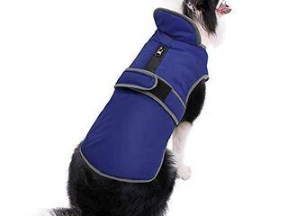 MIGOHI Reflective Waterproof Windproof Dog Coat Cold Weather Warm Dog Jacket Reversible Stormguard Winter Dog Vest for Dogs Orange  M