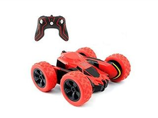 RC Cars Stunt Car Toy  Amicool 4WD 2 4Ghz Remote Control Car Double Sided Rotating Vehicles 360 Flips  Kids Toy Cars for Boys   Girls Birthday No Battery