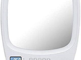 QFX R 70S Wireless Speaker with Fogless light Up Mirror White