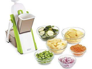 DASH Safe Slice Mandoline for Vegetables  Meal Prep   More with 30  Presets   Thickness Adjuster  Green