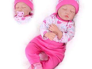 Kaydora Sleeping Reborn Baby Dolls  22 Inch lifelike Vinyl Newborn Baby Girl  Handmade Adorable Weighted Body Reborn Doll Gift Set