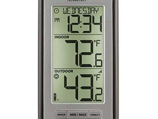 la Crosse Technology Indoor Or Outdoor Temperature WS 9160U IT Digital Thermometer  Titanium