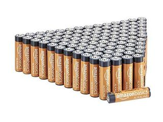 Amazon Basics 100 Pack AAA High Performance Alkaline Batteries  10 Year Shelf life  Easy to Open Value Pack