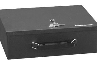 Honeywell Safes   Door locks 6104 Fire Resistant Steel Security Safe Box  8 7x12 7x4 2  Black