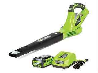 Greenworks 40V 150 MPH Variable Speed Cordless leaf Blower  2 0Ah Battery and Charger Included  24252